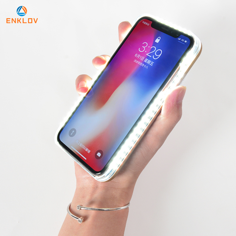 Light Glow Phone Case For iPhone x Case Photo Fill Light Artifact For iPhone 7 p
