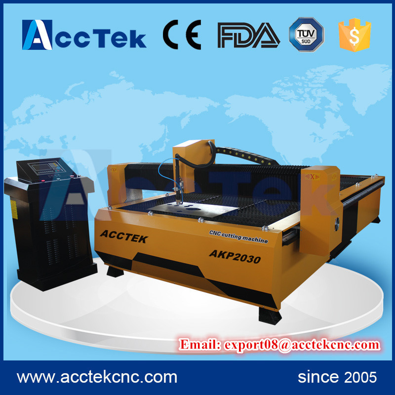acctek plasma cutter/ cnc plasma tube cutting machine/ cnc metal tube cutting machine for sale