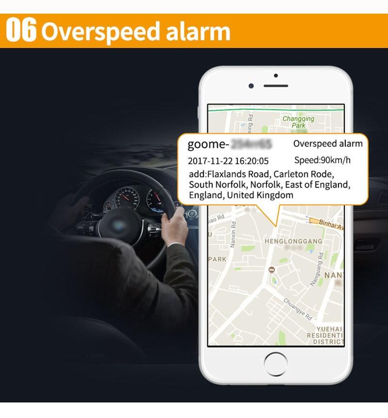 € 27 22 |Goome GM06NW batería incorporada GSM gps rastreador mini  perseguidor para vehículo motocicleta micro localización y corte de  combustible