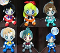 6 pcs/set Classic Toys 20th Anniversary Sailor Moon Plush Doll Toys Sailor Moon Characters pendant Children's toys Free Shipping