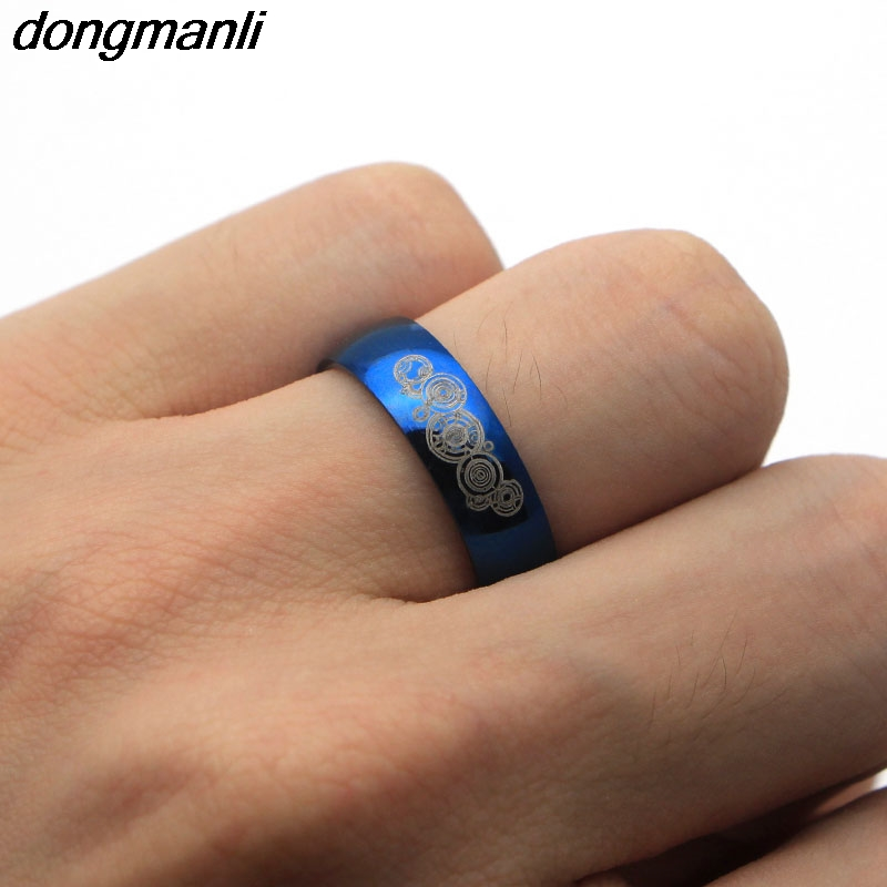 P867 Dongmanli 6mm Width Together Forever Doctor Who Couple ring Men and Womens Fashion stainless steel Ring for Wedding
