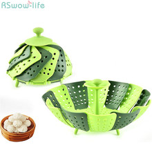 Multifunctional Fruit Basket Steamer With Retractable Folding Kitchen Tool Foldable  Plastic PP Draining