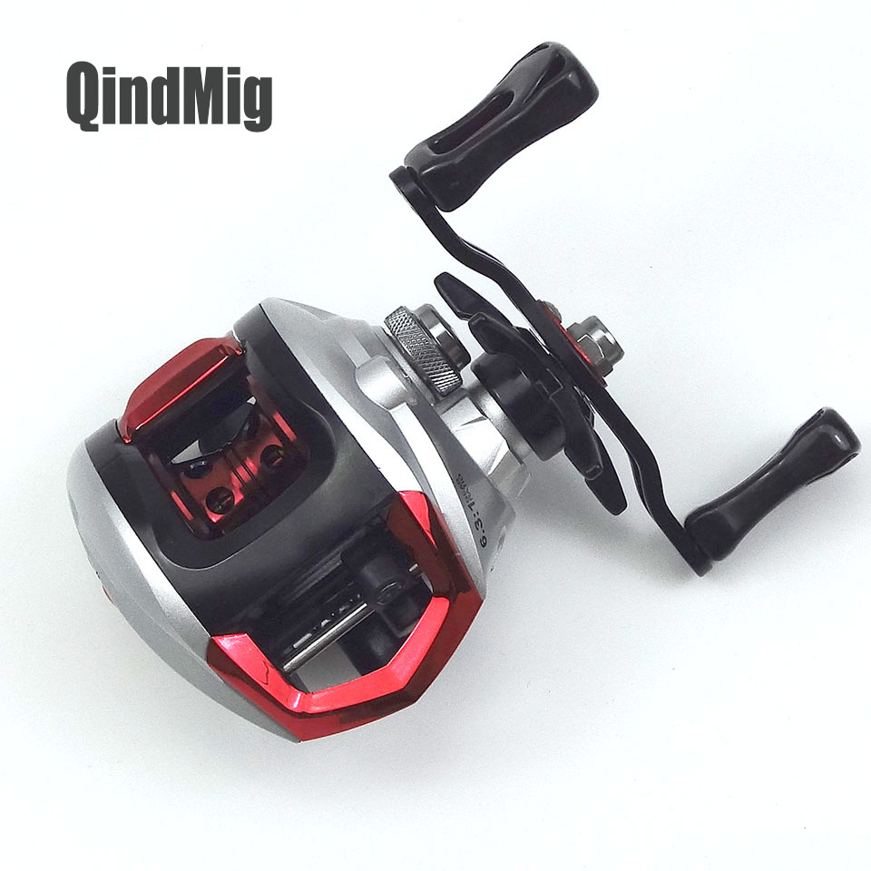 Newest 6.3:1 Gear Ratio 13+1BB High Speed Left / Right Hand Bait Casting Fishing Reel 4.5KG Drag 195G Baitcasting Fishing Wheel 18bb 1 ball water drop wheel bearings double brake baitcasting reel fishing gear right left hand bait casting fishing wheel