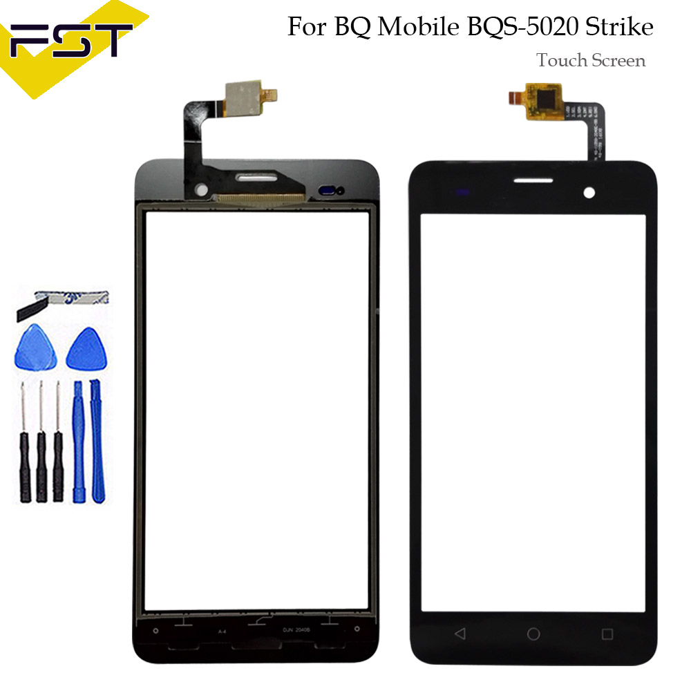 Black 5.0 Touch Screen For BQ Mobile BQS-5020 Strike BQS 5020 Touch Panel Digitizer Touchscreen Glass Sensor +tools