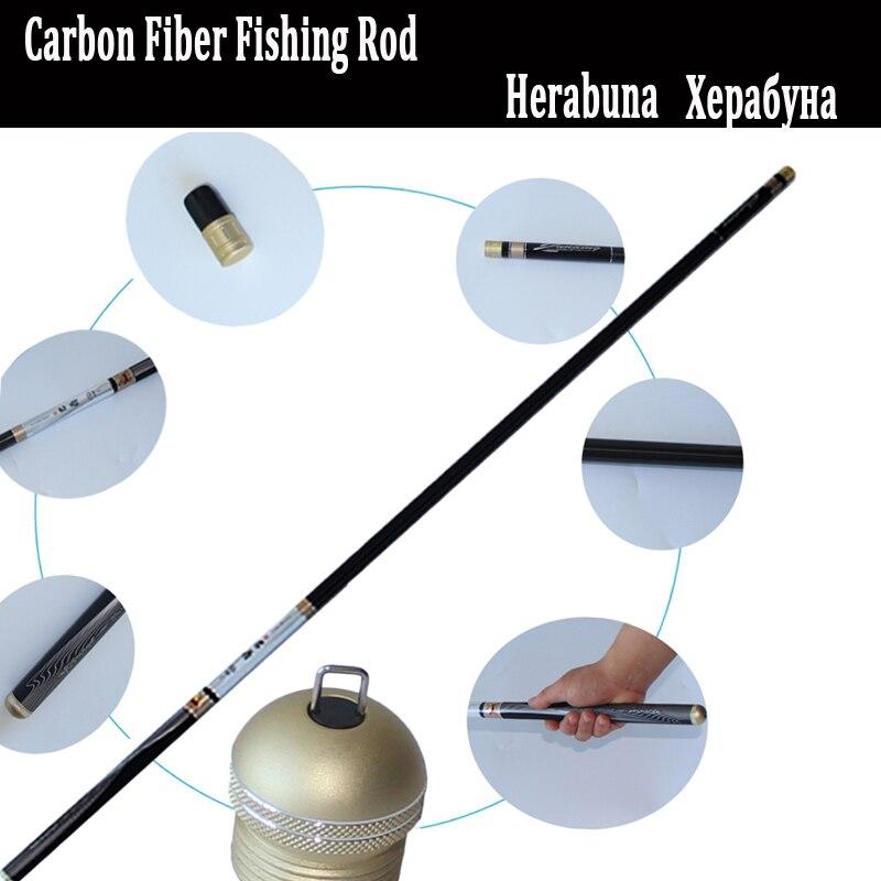 30T Carbon Fiber Herabuna Fishing Rod Telescopic Fishing Rod Pole 3 6M 6 3M 4 6