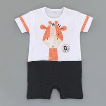 Baby Rompers Penguin Short Sleeve Jumpsuits