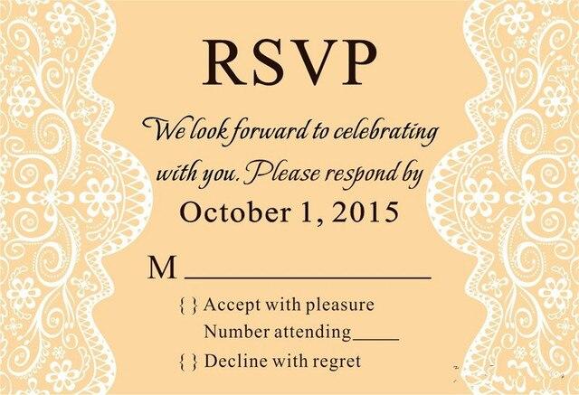 Personalisierte Kreative Hochzeit Papier Rsvp Karten Kundenspezifische  Einladungskarten Kundenspezifische RSVP Karten Hochzeitsfestbevorzugung 100  TEILE/