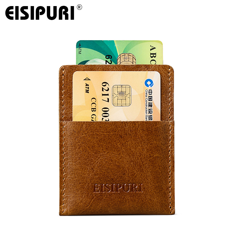 2018 Genuine Leather Card Holder Porte Carte Men Card Id Holders Bank Card Case Credit Cardholder Case to Protect pasjes houder ...