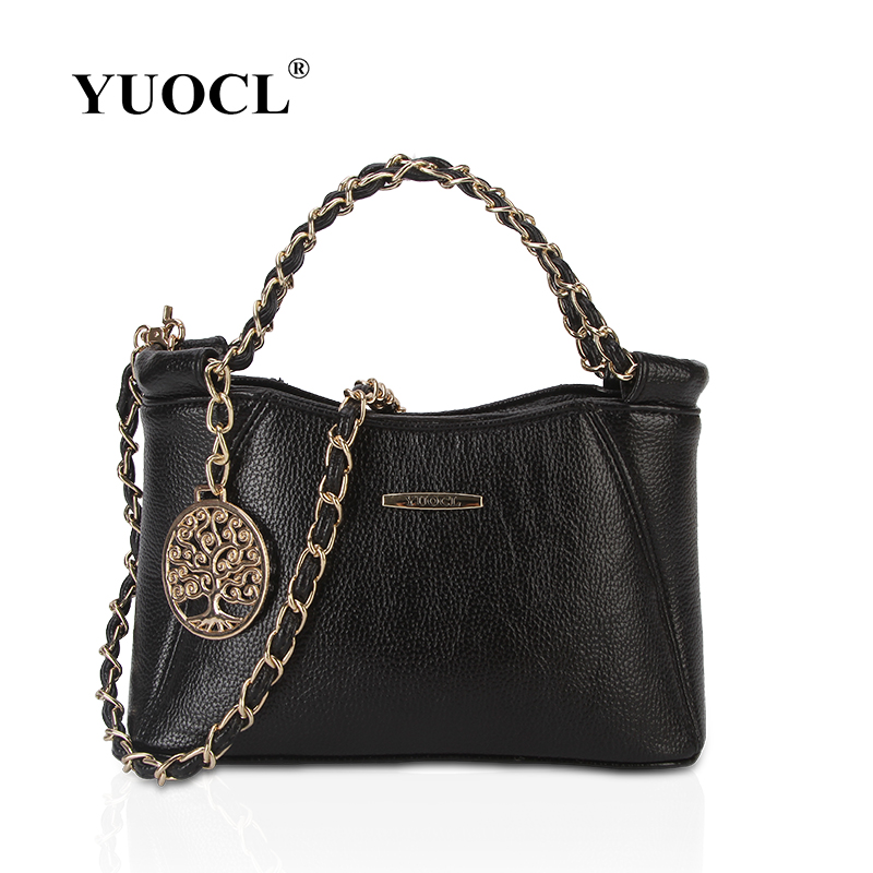 YUOCL New spring and summer 2017 fashion handbags Women Messenger Bag Chain Crossbody bags leather brand designer bags ladies 2016 spring and summer free shipping red new fashion design shoes african women print rt 3