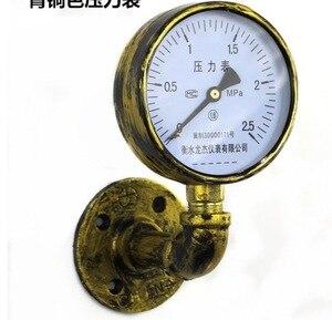 Image 2 - 2 unids/lote Vintage brida Base tubo manómetro gancho estilo Industrial ropa bolsa colgador Loft