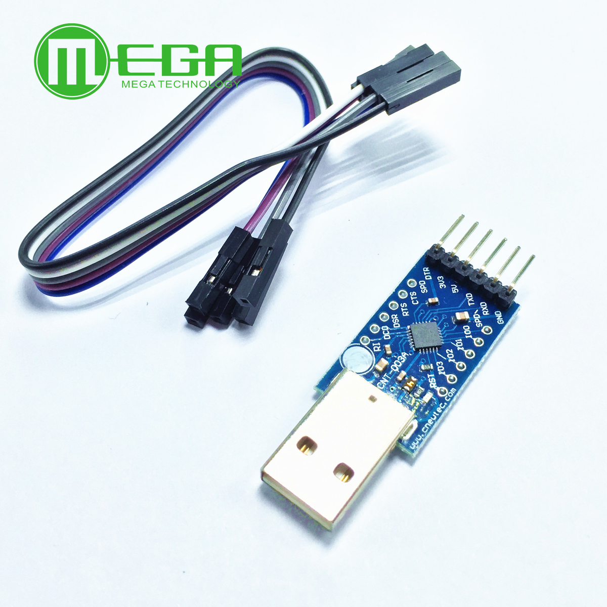 USB2.0 to TTL UART 5PIN Module Serial Converter CP2102 STC PRGMR with Metal case
