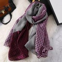 Новая мода Хаундстут весна зима шелковый шарф для женщин Женский Элитный бренд Корейская версия дамы шаль femme хиджаб