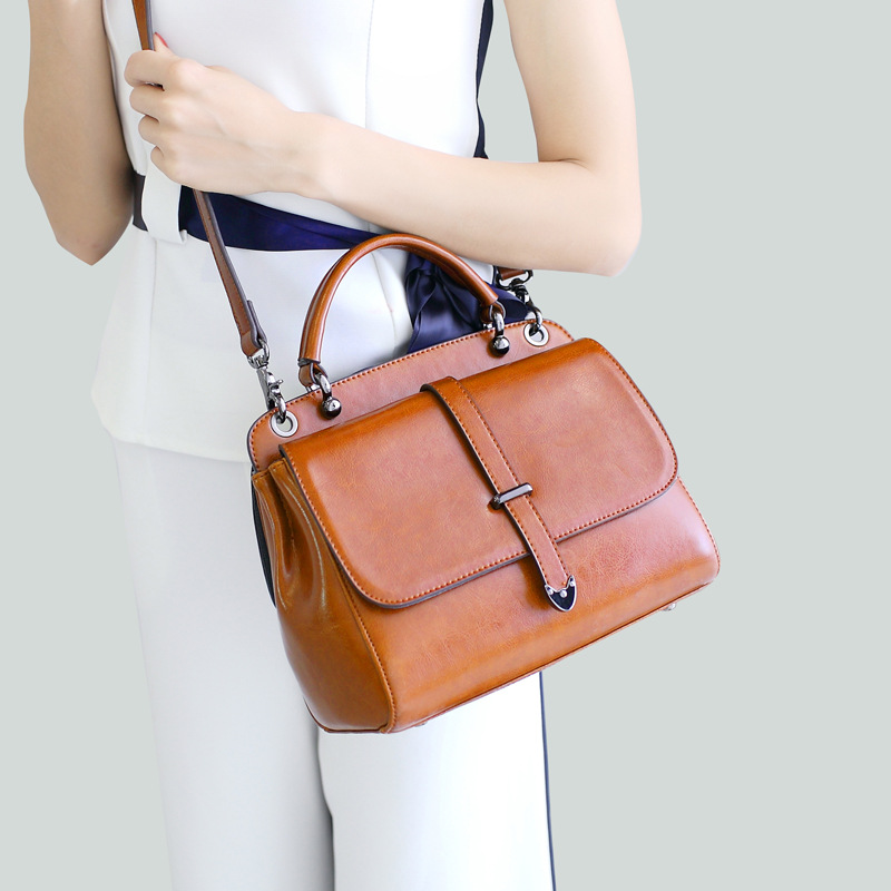 Women 100% Genuine Leather Bags Female Real Leather Handbag Large Shoulder Bags Elegant Women Cross Body Bags Bolsa Dropshipping