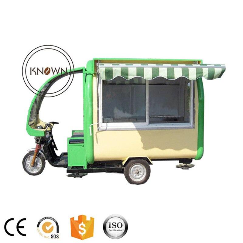 La más moda fuera de la calle remolque de comida rápida comida perrito caliente camión motocicleta con carrito de comida
