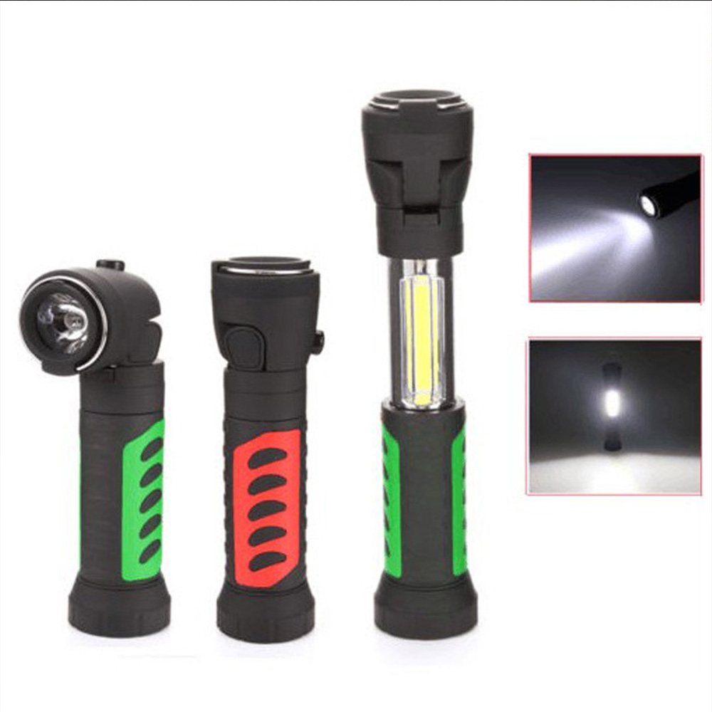 COB Work Lights Multi angle Telescopic LED Flashlight with Magnetic Band Hook Outdoor Camping Hiking Hunting