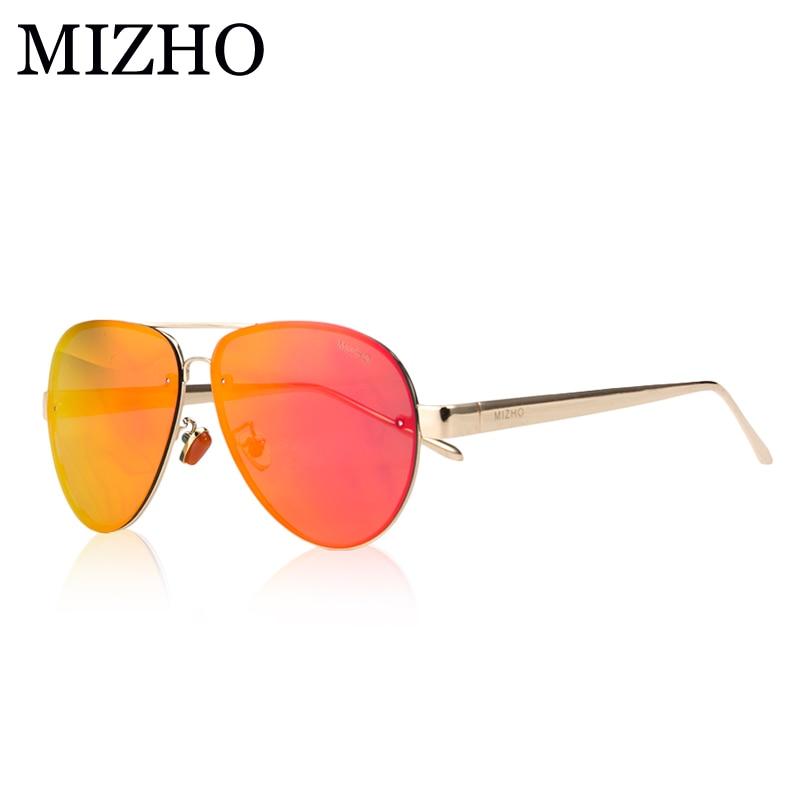 MIZHO Rose Gold Vidrio Luxusní hvězda Aviadors Pánské sluneční brýle Polarizované ženy Řízení značek UVA oculos de sol Mirror 2019