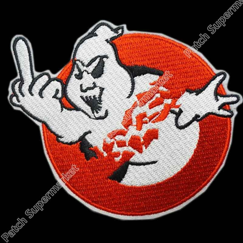 """4 """"pogromcy duchów środkowy palec zespół duch film TV dla dzieci haftowane LOGO żelazko na łacie kamizelka na rower odznaka Emo Goth Punk rockabilly w Łatki od Dom i ogród na  Grupa 1"""