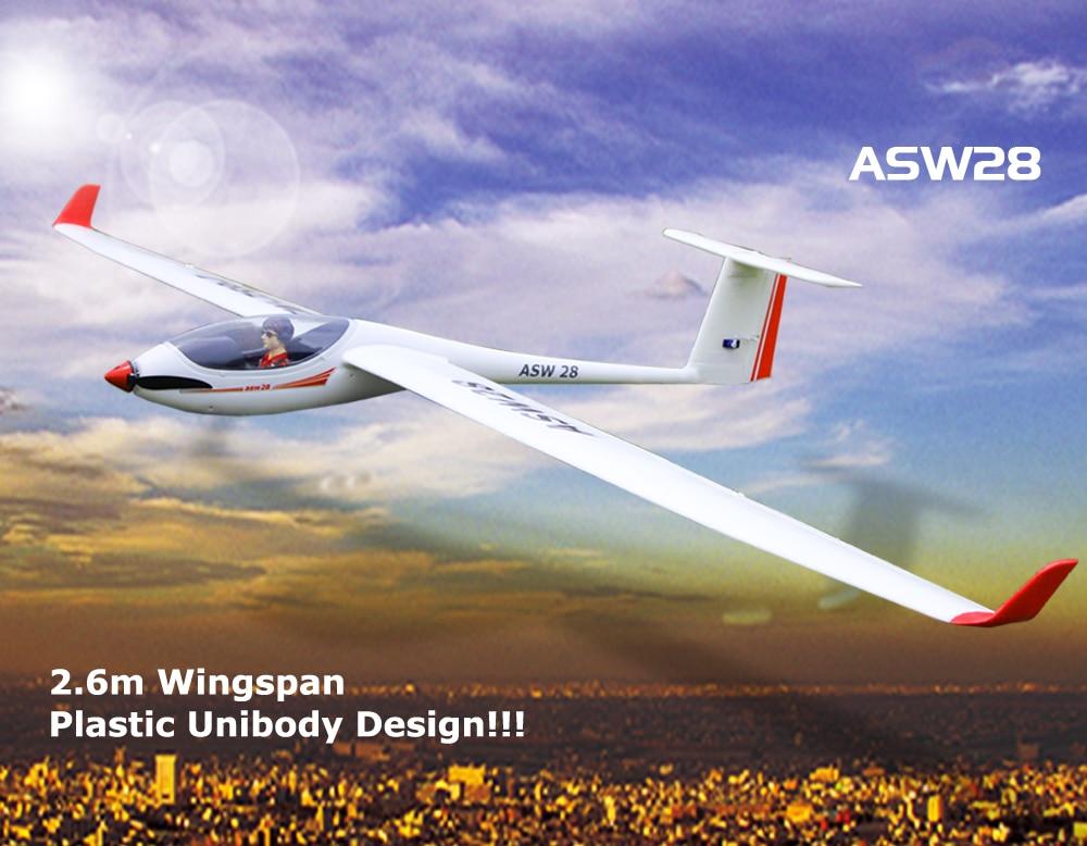 Volantex ASW28 2.6M RC KIT Plane Model W/O Brushless Motor Servo 30A ESC Battery 4set lot universal rc quadcopter part kit 1045 propeller 1pair hp 30a brushless esc a2212 1000kv outrunner brushless motor