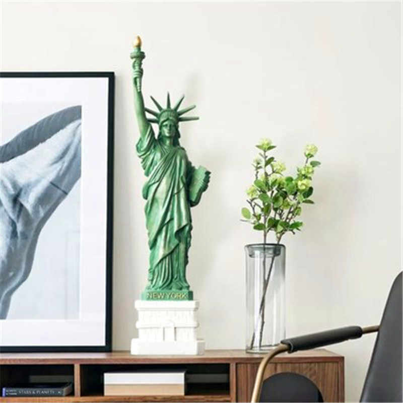 Statue Of Liberty Resin Full-Length Portrait Statue European Style Model Home Decorations G1333