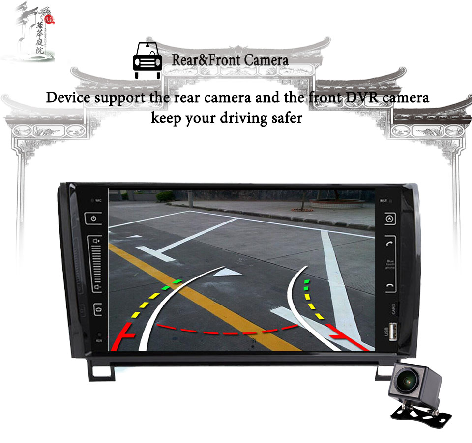 "Best 9"" IPS 3/4G Android 9.0 4+64G 2 DIN CAR multimedia player for Toyota Sequoia Tundra 2007-2013 RADIO stereo auto audio navigation 14"