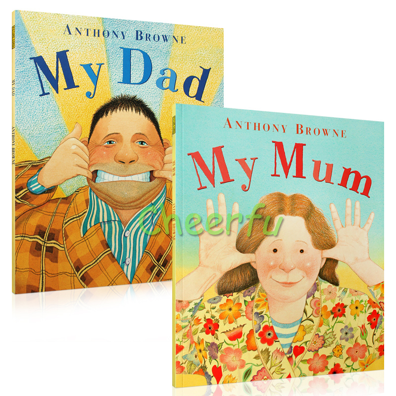 My Dad My Mum ANTHONY BROWNE English Picture Books For Kids Children Full Set Educational Card Books Cuentos Stories Infant