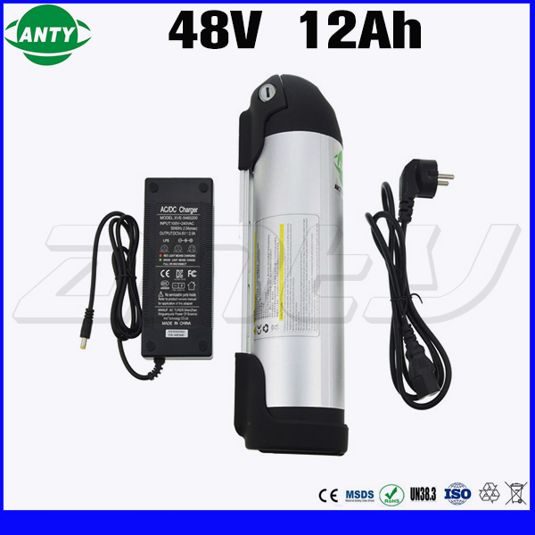 Water Bottle Battery 48v 350w For 18650 Cell eBike Battery 48v 12Ah with 2A Charger 15A BMS Lithium Battery 48v Free Shipping us eu free customs duty high power 1000w ebike battery 48v 25ah 18650 cell with 5a charger 30a bms 48v lithium battery pack