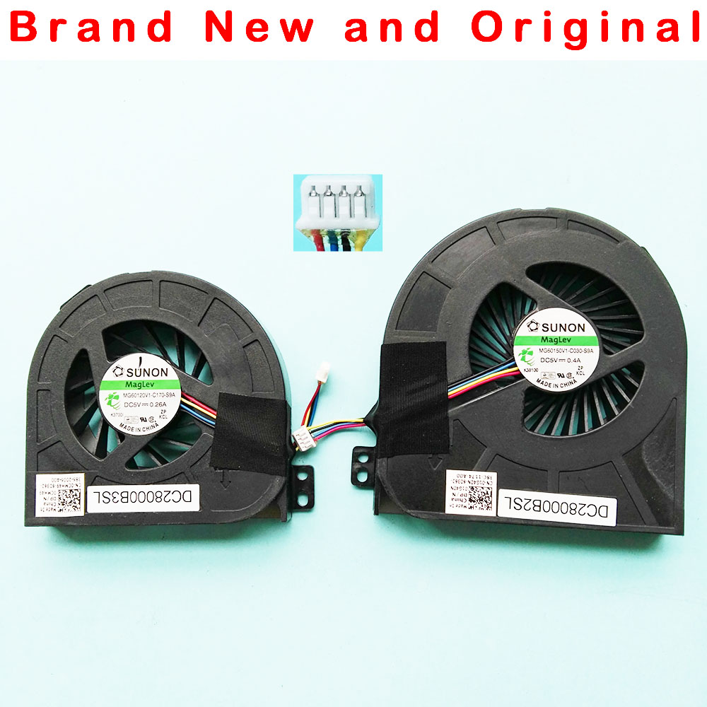 US $6 75 10% OFF|New Original CPU GPU cooling fan for Dell Precision M4700  fan cooler 0CMH49 01G40N MG60120V1 C170 S9A MG60150V1 C030 S9A-in Fans &