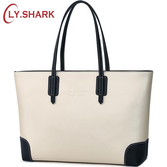b039dba3c02 LY.SHARK Women Bag Luxury Handbags Women Bags Designer Ladies Genuine  Leather Bags Handbags Female Shoulder Top handle Tote bag-in Shoulder Bags  from ...