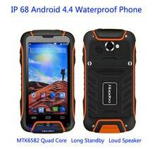 Оригинальный huadoo V3 MTK6582 Quad orec мобильного телефона Android 4.4 IP68 Водонепроницаемый противоударный 1 ГБ + 8 ГБ 8MP Камера 3G GPS смартфон