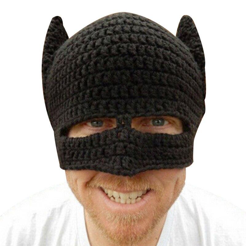Fashion Batman Crochet Hat For Women Men Cotton Knitted Novelty Beanie  Christmas Gifts Warm Autumn Hat ... 9cc5c08b4f13