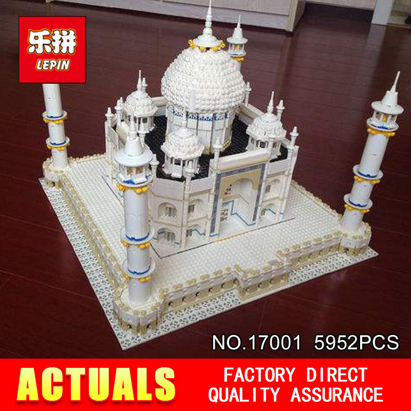 LEPIN 17008 17001 City Street Creator The Tai Mahal Model Building Kits  Assembling Brick Toys Compatible 10189 lepin17001 city street tai mahal model building blocks kids brick toys children christmas gift compatible 10189 educational toys