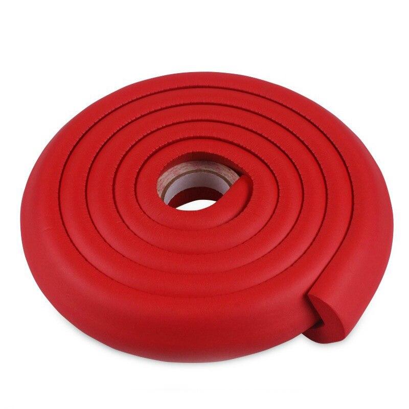 Купить с кэшбэком 2M Baby Safety Corner Guard Protector Foam Bumper Collision Cushion Strip Glass table Desk Edge Furniture crash bar
