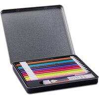 M & G 12/24 컬러 연필 세트 무료 리필 개폐식 수채화 펜 학생 아티스트 용품 연필