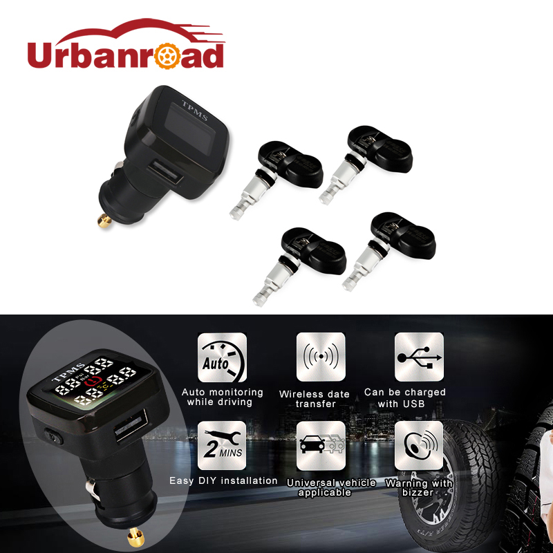 Smart Digital Car font b TPMS b font Systems Wireless Tire Pressure Monitoring System 12v With