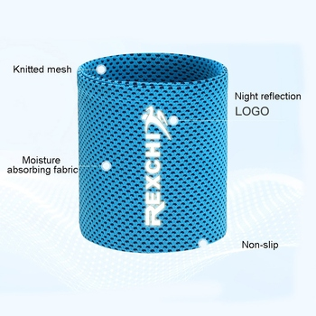 Wrist Brace Support Breathable Ice Cooling Sweat Band Tennis Wristband Wrap Sport Sweatband For Gym Yoga Volleyball Hand  Unisex 10
