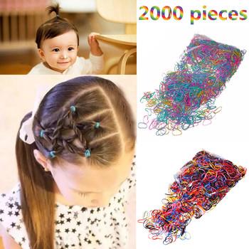 M MISM 2000PCS jednorazowa kolorowa elastyczna opaska do włosów dla dzieci Girl Akcesoria do włosów scrunchy gum do włosów guma Band tanie i dobre opinie Headwear Poliester Dziewczyny Moda Elastic Hair Bands PJ0100A-F Geometryczne Czarny kolorowy Zhejiang of China 2000 sztuk