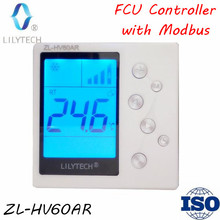 ZL-HV60AR, Modubs FCU controller, RS485 Thermostat, Modbus Thermostat, Fan Coil Unit controller, fcu thermostat rs485, Lilytech цена и фото
