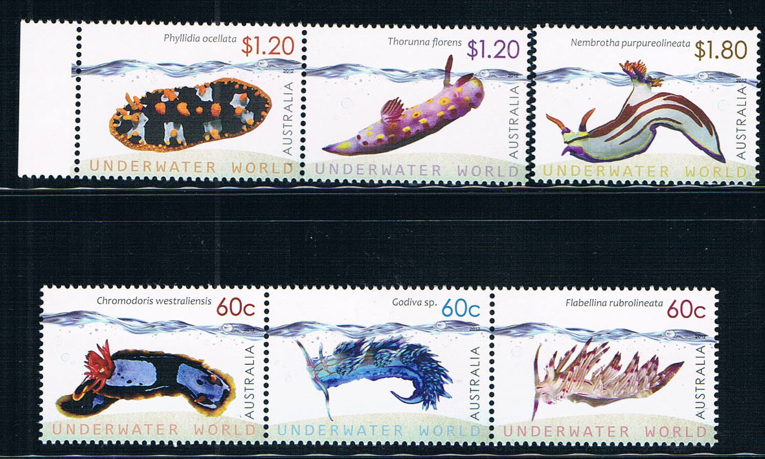 EA1576 Australia 2012 marine animal stamps 6 new 0916 software from 2012 ea1420 1ms new 0626 coastal bird stamps