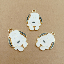 10 pcs/lot Cute Cartoon Dog Enamel Charm Animals Drop Oil Charms Pendant Earring Bracelet Handmade Jewelry DIY Accessory YZ193 цена