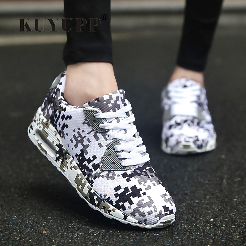 KUYUPP Camouflage Canvas Women Casual Shoes 90 Valentine Shoes Womens Trainers Summer Breathable Outdoor Runner Shoes ZD1