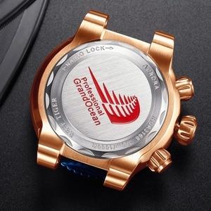 Image 5 - Reef Tijger/Rt Top Merk Luxe Blauwe Sport Horloge Voor Mannen Rose Goud Waterdichte Horloges Rubber Band Relogio Masculino RGA3168