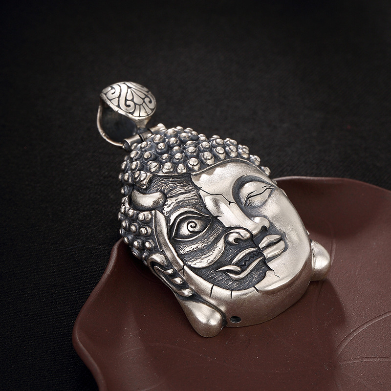 925pure silver restoring ancient ways is six words Buddha magic whim Thai silver antique pendants 925pure silver restoring ancient ways is six words Buddha magic whim Thai silver antique pendants