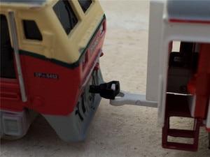 Image 3 - גבוהה סימולציה רכבת, 1: 87 קנה מידה סגסוגת למשוך בחזרה Dongfeng רכבת זוגית, מרכבה, קרוואן, cars צעצוע, משלוח חינם