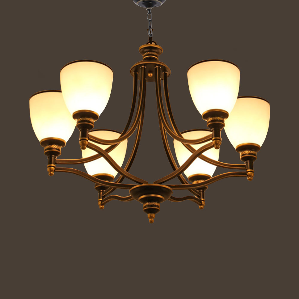HGHomeart American Country Style Chandeliers LED 110V/220V Antique Luxury Iron E27 Chandelier for The Bedroom Home Lighting hghomeart country style antique iron chandelier e27 led bulb 110v 220v vintage lamp home lighting modern dining room chandeliers