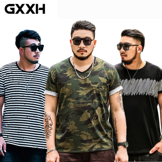766cc59a669 HOT SELL GXXH Oversize Large Size Men s Short Sleeves Printed T Shirts Male  Fat Guy Summer Mens Tee Clothes XXL-4XL 5XL 6XL 7XL