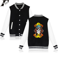 LUCKYFRIDAYF İskelet Guns N Roses Punk Beyzbol Kış Hoodies Bayan Rock Grubu Kazak Kadınlar Hoodie Komik Ceket Elbise