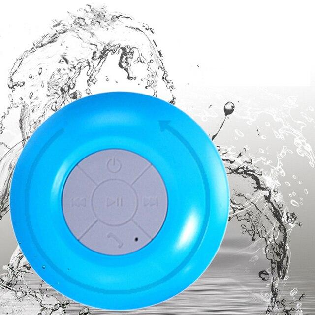 Мини Портативный сабвуфер душ Водонепроницаемый Беспроводной Bluetooth Динамик Автомобильная гарнитура получите вызов открытый Music всасывания с микрофоном