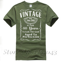 Vintage 80th Birthday T Shirt Funny Gift 80 Years Old T Shirt