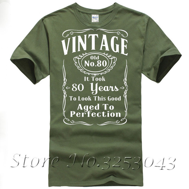 Vintage 80th Birthday T Shirt