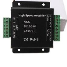 DC5V 12V 24V High Speed Amplifier Single color/RGB/RGBW/RGB+CCT RGBWW Data Signal Repeater 1/3/4 CH Dimmer Power Amplifier цена